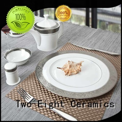 Two Eight Wholesale fine porcelain dinner set Supply for bistro