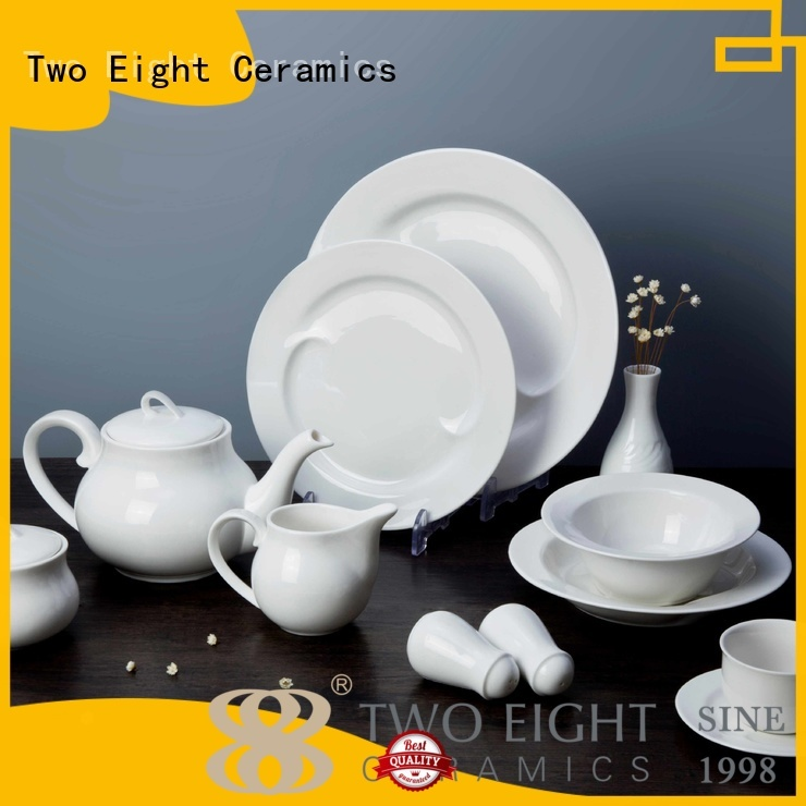 Two Eight Brand royalty style white porcelain tableware
