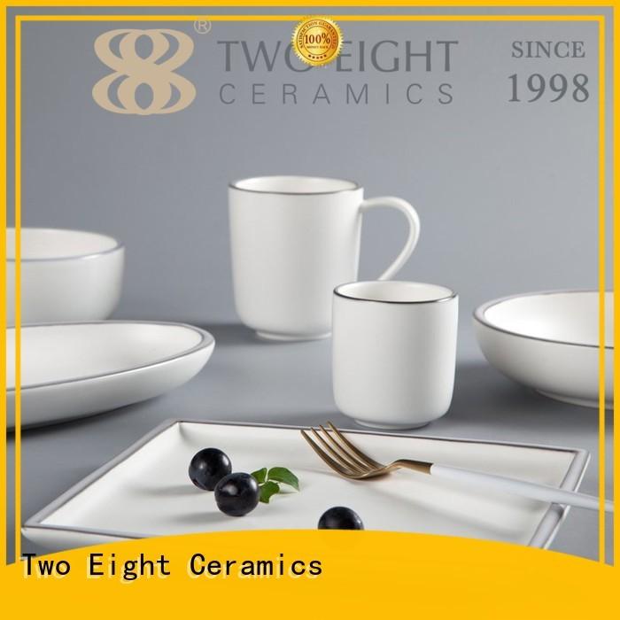 Two Eight modern modern restaurant dinnerware customized for hotel