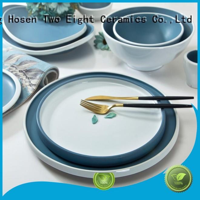 Two Eight embossed yellow porcelain dinnerware manufacturer for dinner