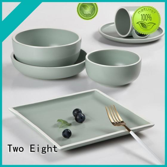 Two Eight durable hotel collection porcelain dinnerware from China for hotel