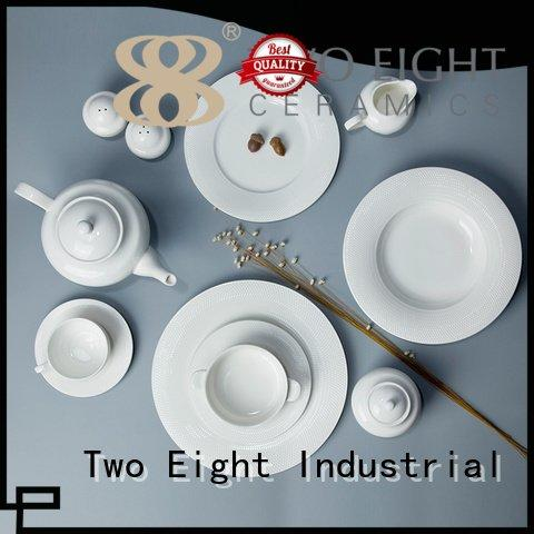 irregular italian white dinner sets square Two Eight Brand company