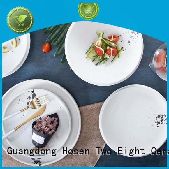 16 piece porcelain dinner set hotel two eight ceramics blue company