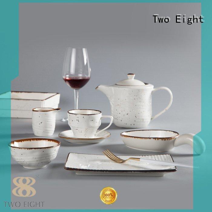 16 piece porcelain dinner set mixed white glaze Two Eight