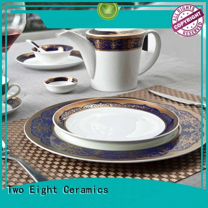 Two Eight fine china dinnerware set factory for hotel