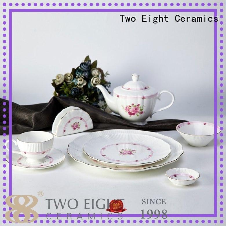 Two Eight fine porcelain tea set company for hotel