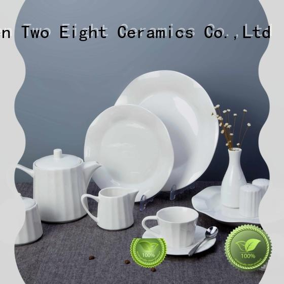 rim restaurant white dinnerware series for hotel