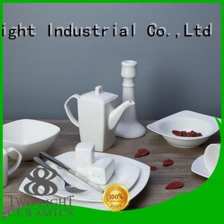 white porcelain tableware square Two Eight Brand