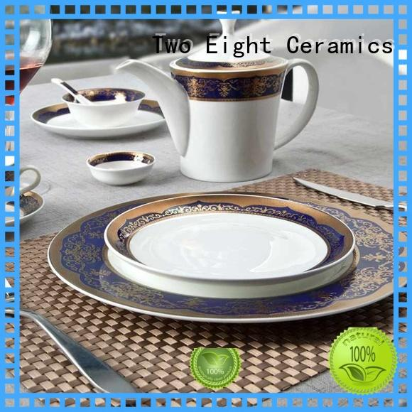 Two Eight color fine china dinnerware supplier for dinning room