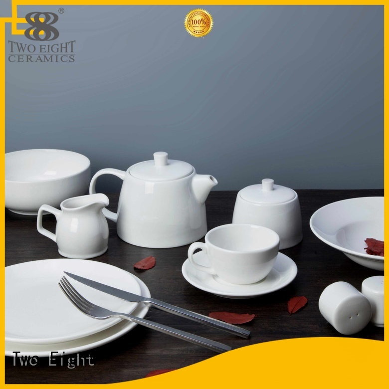 Hot white white porcelain tableware style Two Eight Brand