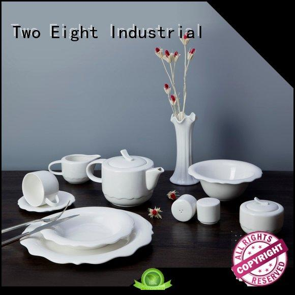 casual round white porcelain tableware Two Eight