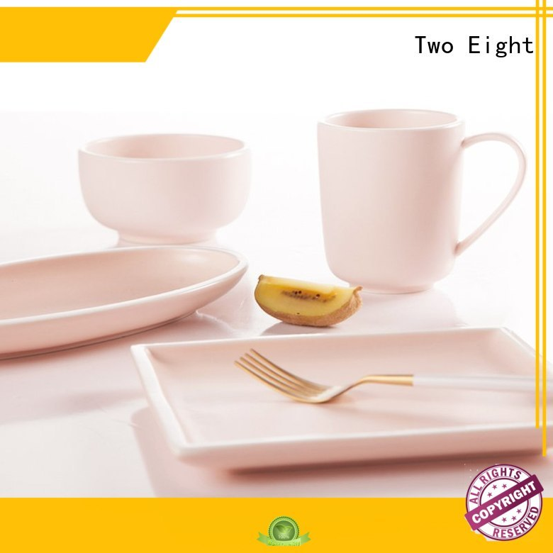 Two Eight colorful porcelain dinner set sale directly sale for home