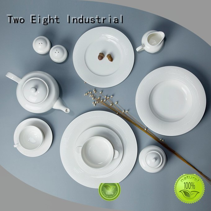 rim hotel white dinner sets Two Eight
