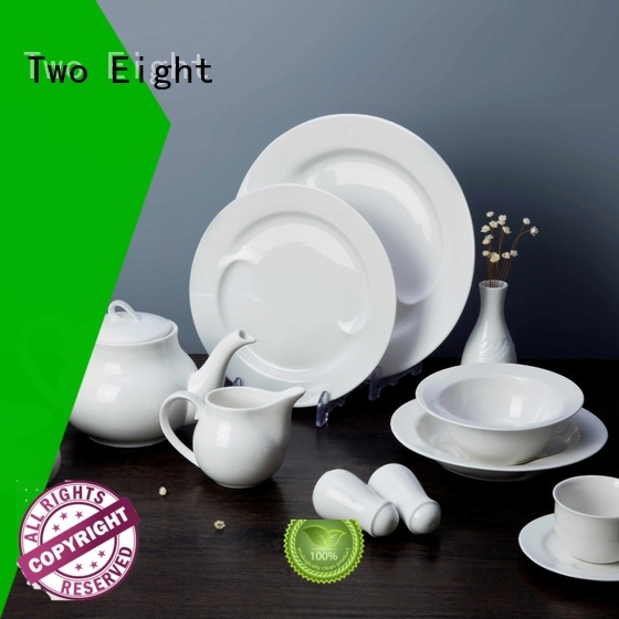 Two Eight New white dinnerware sets for 12 manufacturers for kitchen