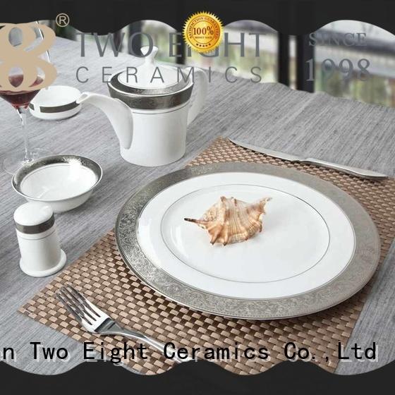 Two Eight durable finest porcelain dinnerware fresh for kitchen