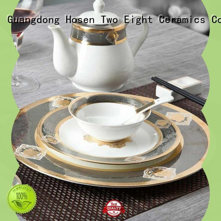 Two Eight color custom restaurant dinnerware wholesale for bistro
