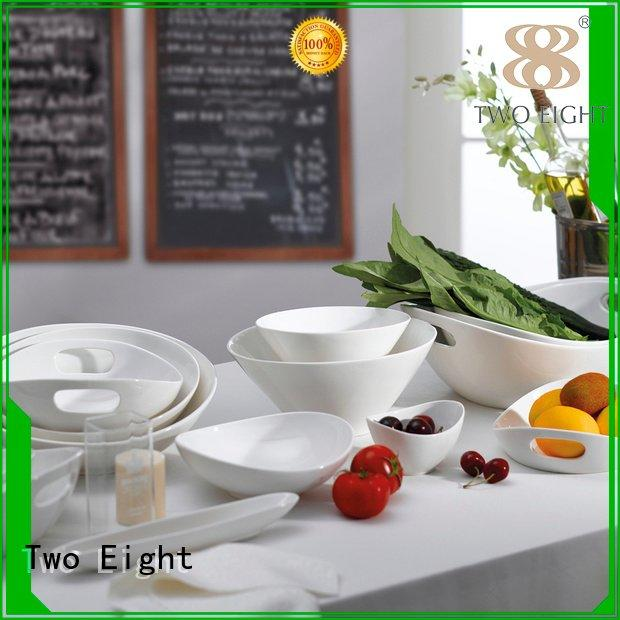 Two Eight Brand hotel wedgewood bone china round white