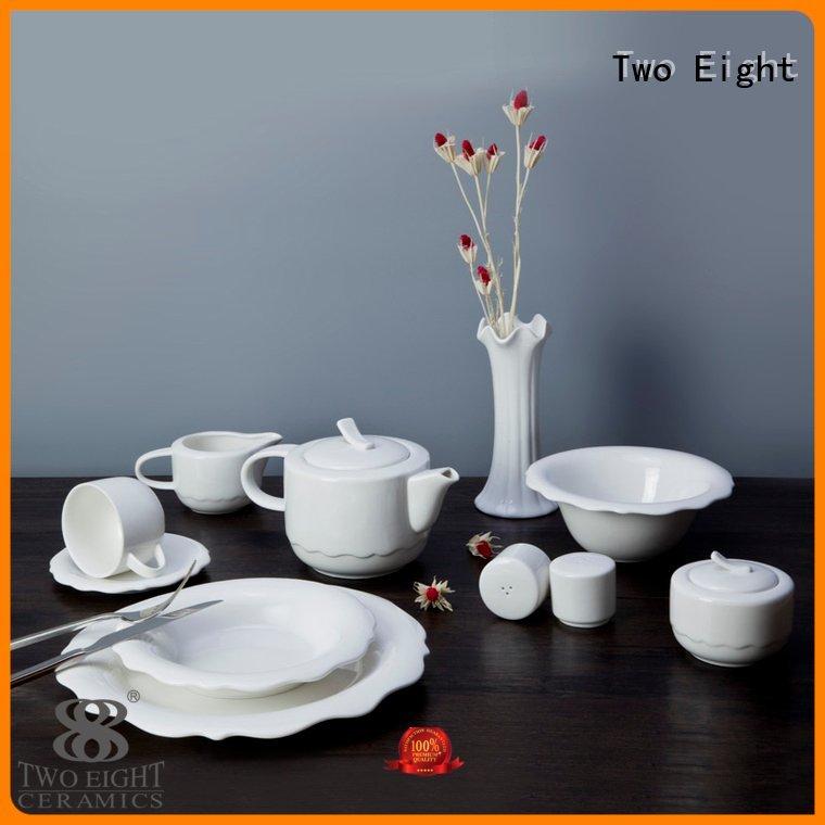 white porcelain tableware quan wang Two Eight Brand