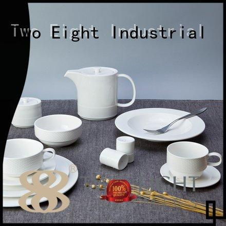 Two Eight Brand embossed wang fashion white dinner sets