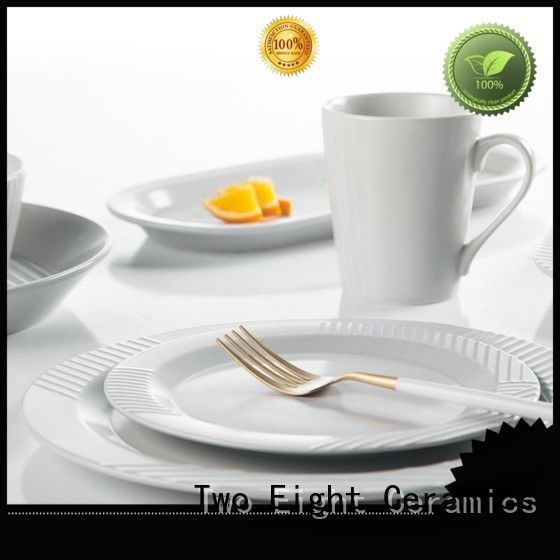 Two Eight smooth black porcelain dinnerware solid for hotel