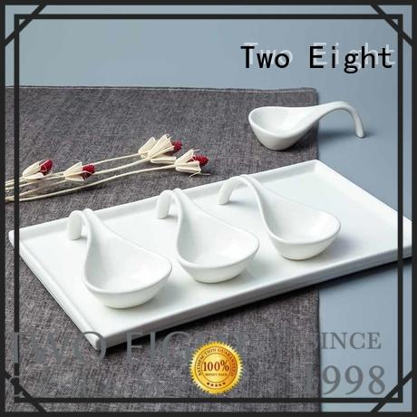 Two Eight casual porcelain tea cup with lid components for bistro