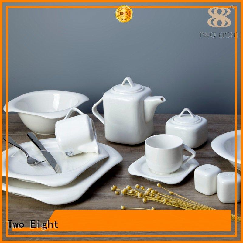 Two Eight glaze dinner white dinner sets home style