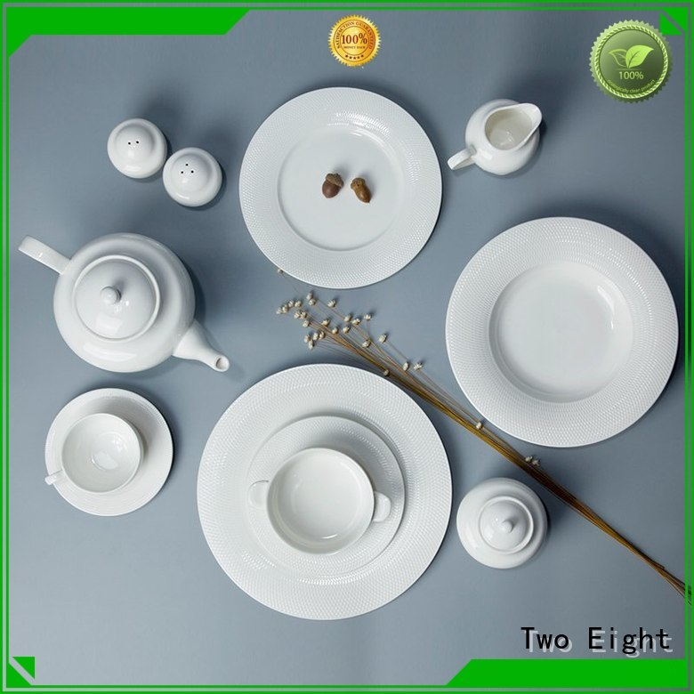 Two Eight restaurant style dinner plates Supply for kitchen