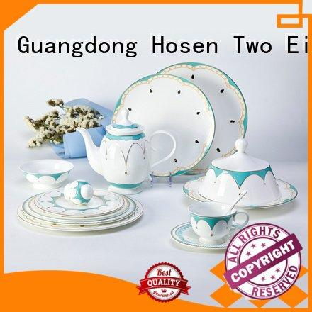 Quality fine white porcelain dinnerware Two Eight Brand decal fine china tea sets