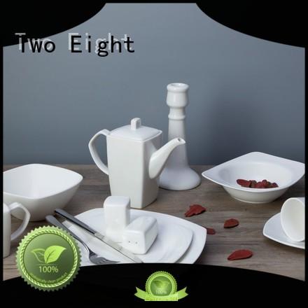 Two Eight smoothly tabletops avenue porcelain white dinnerware set rim for hotel