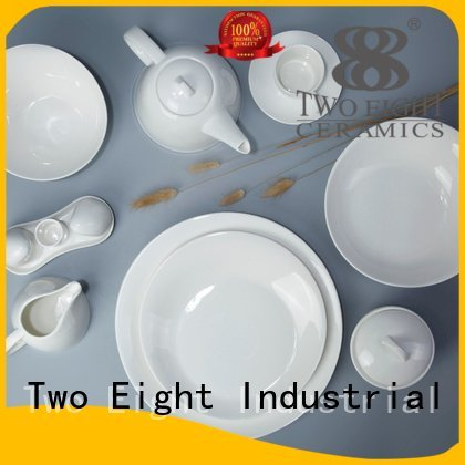 Two Eight Brand smoothly italian quan white porcelain tableware