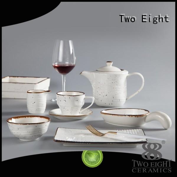 Two Eight Brand solid light 16 piece porcelain dinner set jade supplier