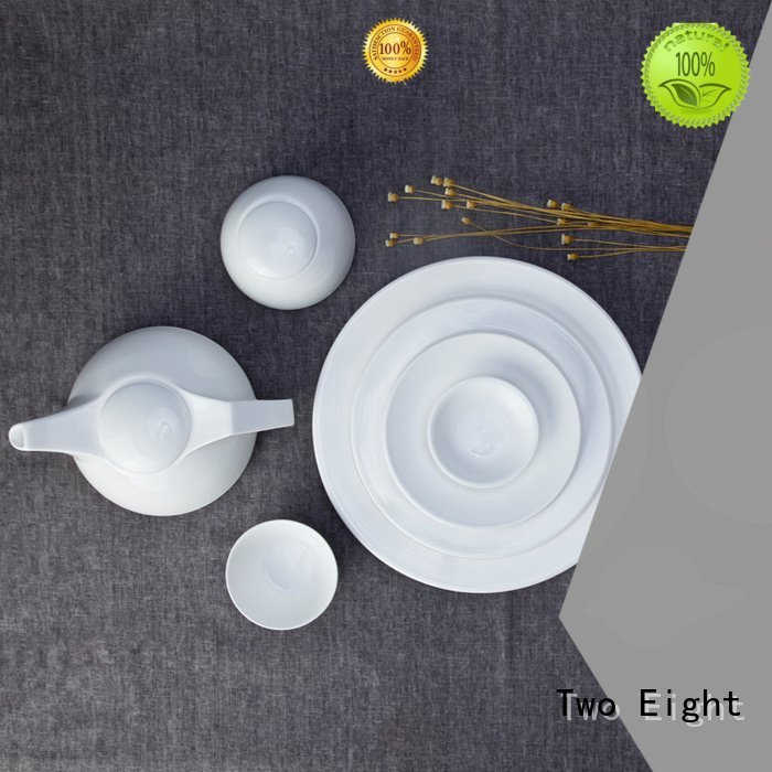 sample round color hotel Two Eight white porcelain tableware