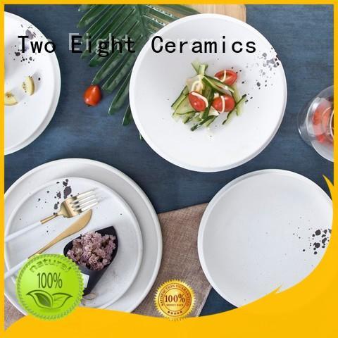 french porcelain dinnerware stock for restaurant Two Eight