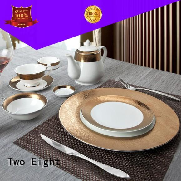 Two Eight modern unbreakable restaurant plates wholesale for dinner