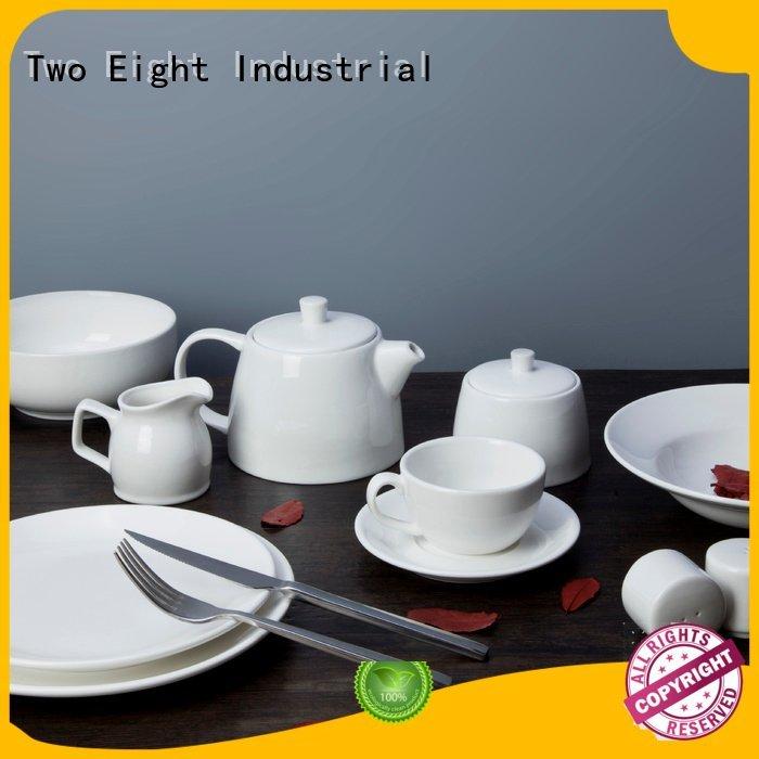 white porcelain tableware elegant porcelain white dinner sets Two Eight Warranty