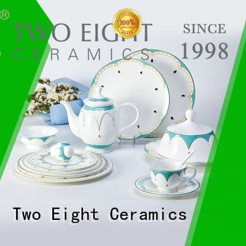 Two Eight fine bone china tea set for business for restaurant