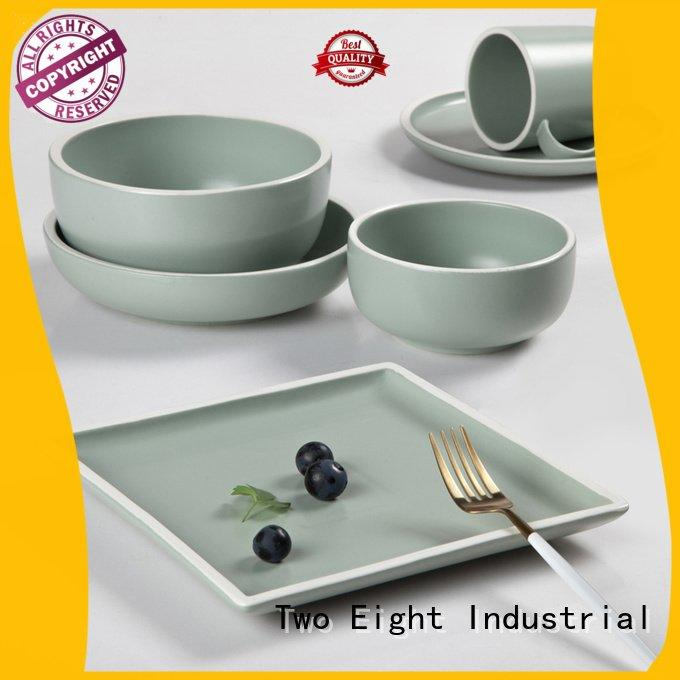 open blue and white porcelain Two Eight 16 piece porcelain dinner set