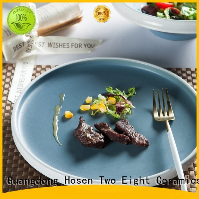 Two Eight modern chinese restaurant crockery mixed for kitchen