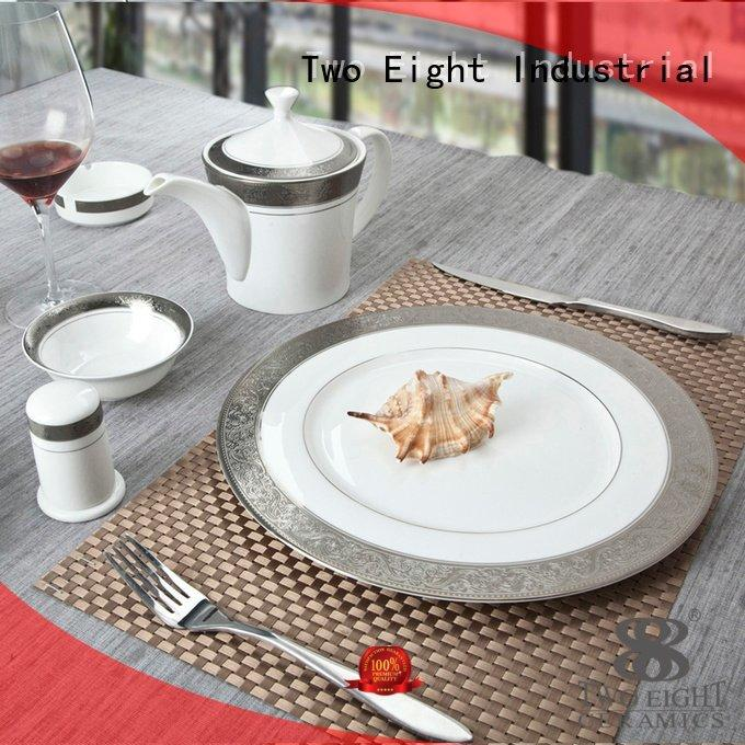 Two Eight Brand rim decal casual fine china tea sets