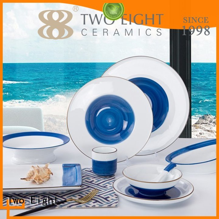 16 piece porcelain dinner set jiang rim two eight ceramics manufacture