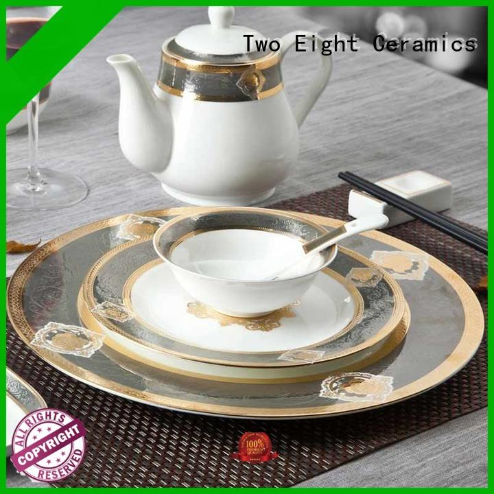 Two Eight elegant fine bone china dinnerware supplier for teahouse