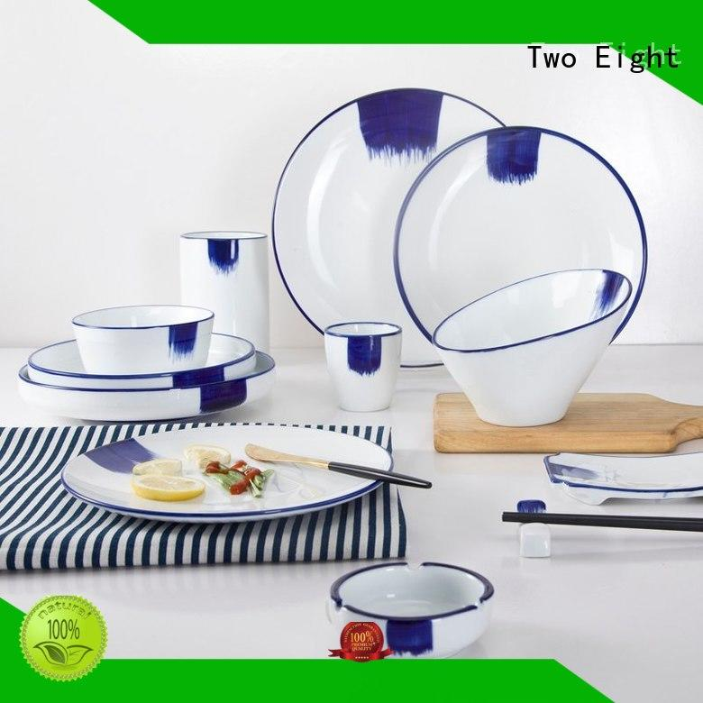 Two Eight Chinese cheap white dinnerware directly sale for restaurant
