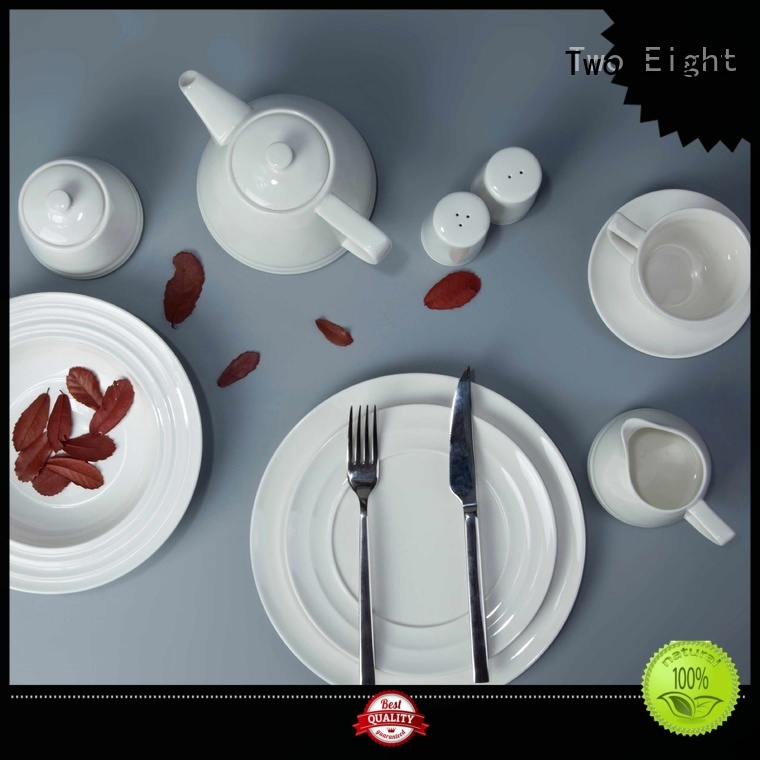 Two Eight German style classic white dinnerware sets series for dinner