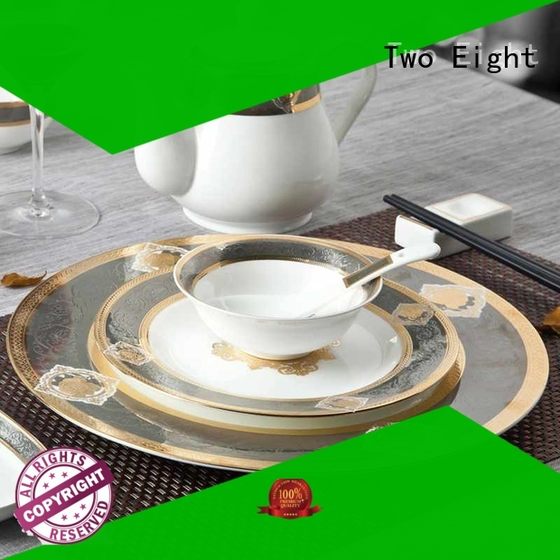 Two Eight royalty fine porcelain china personalized for dinning room