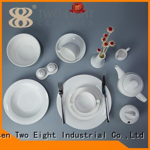 embossed Two Eight white porcelain tableware