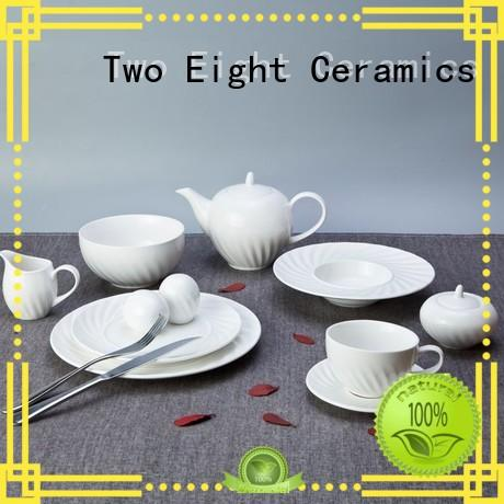 Two Eight french style restaurant quality plates series for hotel