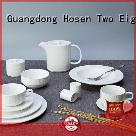 white porcelain tableware color Two Eight Brand white dinner sets