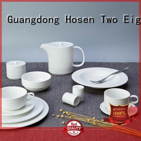 white porcelain tableware color Two Eight Brand white dinner sets