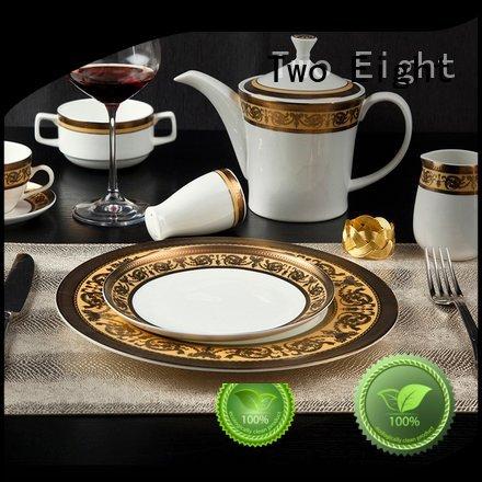 fine white porcelain dinnerware italian princess OEM fine china tea sets Two Eight