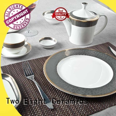 Two Eight High-quality fine bone china dinnerware factory for bistro